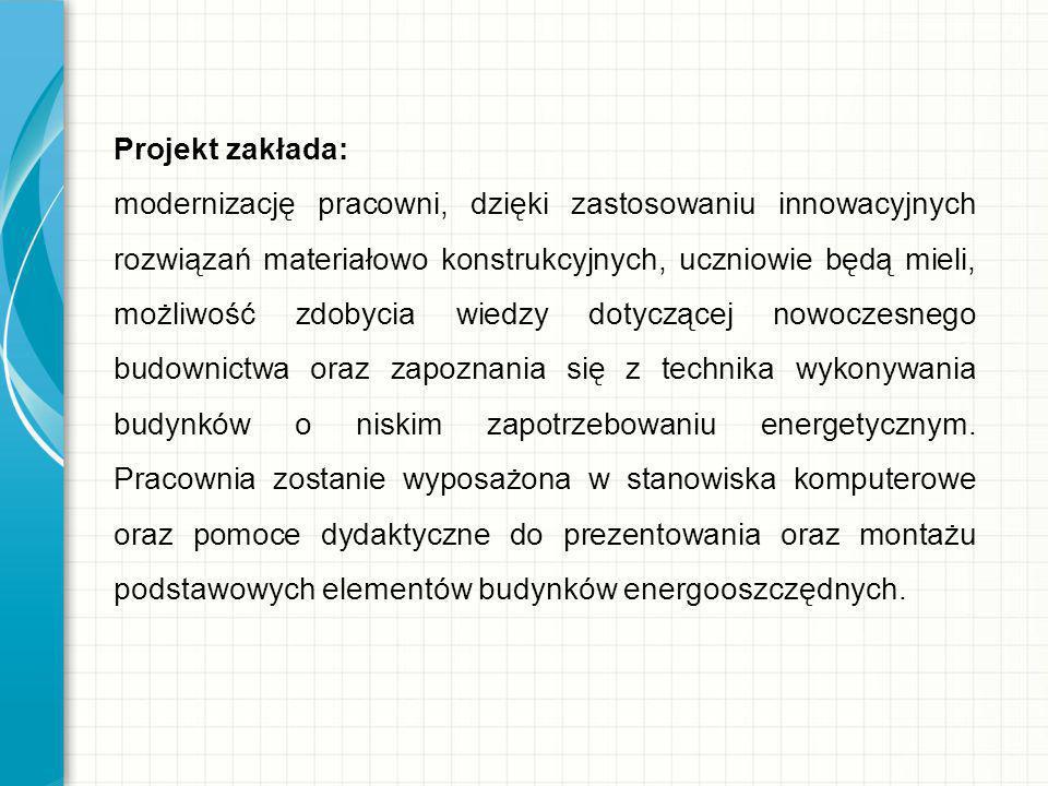 Projekt zakłada: