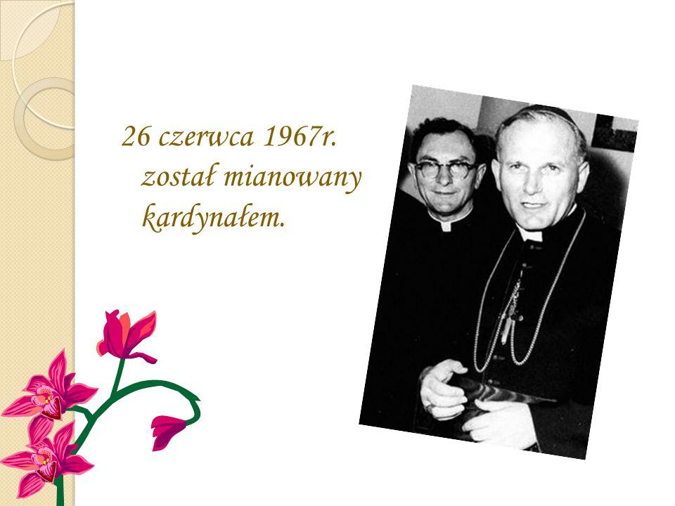 26 czerwca 1967r. został mianowany kardynałem.
