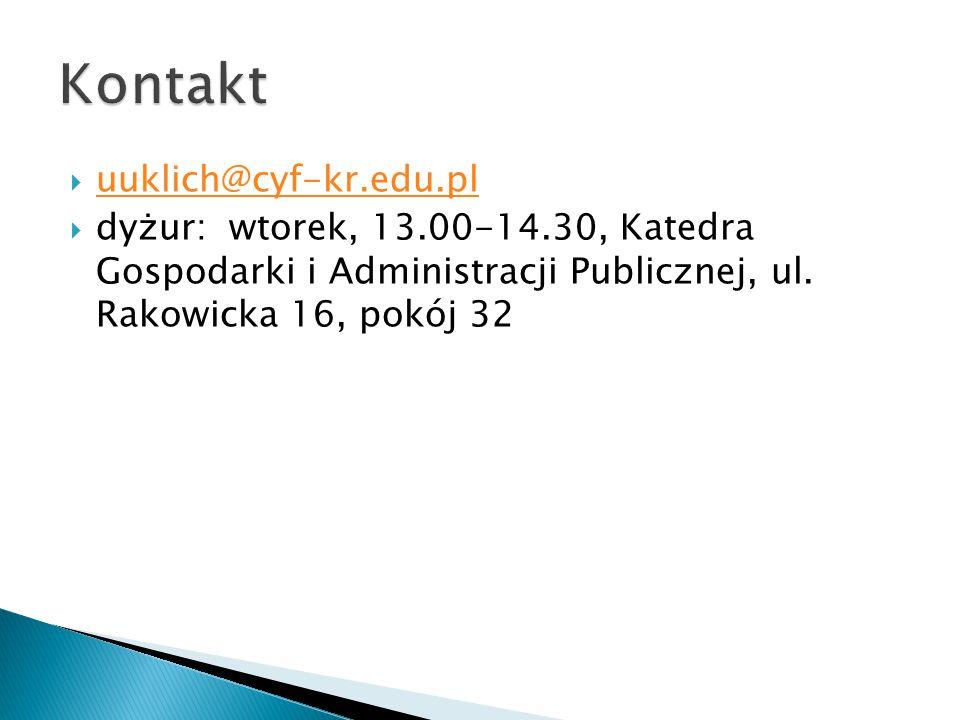 Kontakt uuklich@cyf-kr.edu.pl