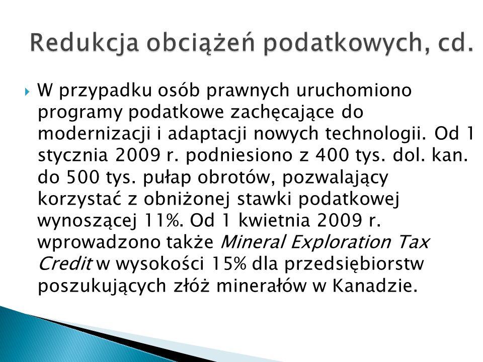 Redukcja obciążeń podatkowych, cd.