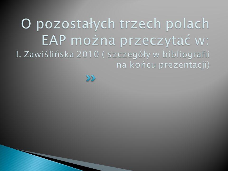 O pozostałych trzech polach EAP można przeczytać w: I