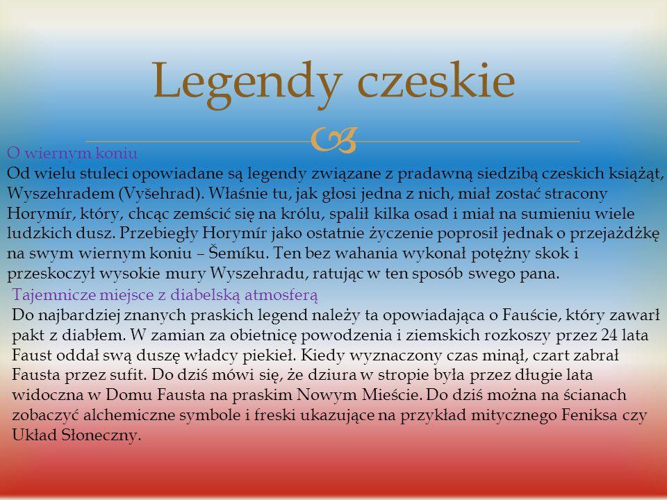 Legendy czeskie O wiernym koniu