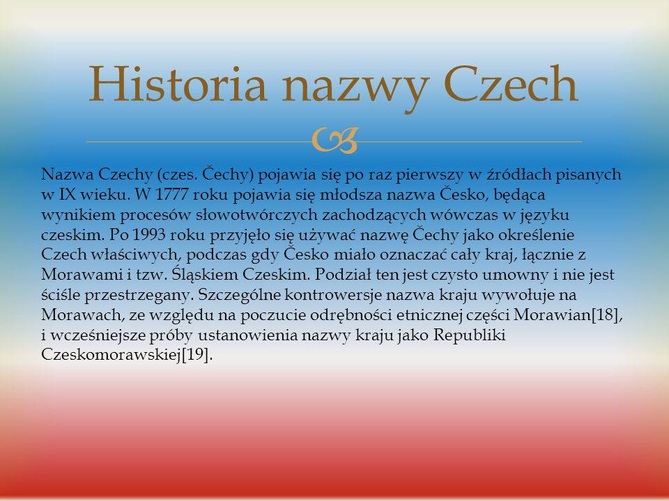 Historia nazwy Czech
