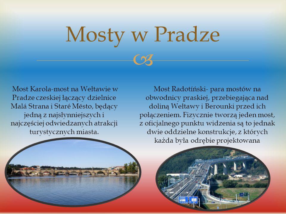 Mosty w Pradze