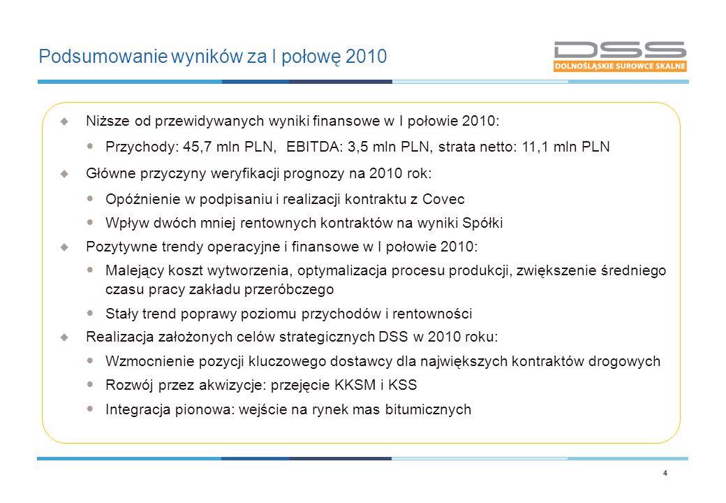 Podsumowanie wyników za I połowę 2010