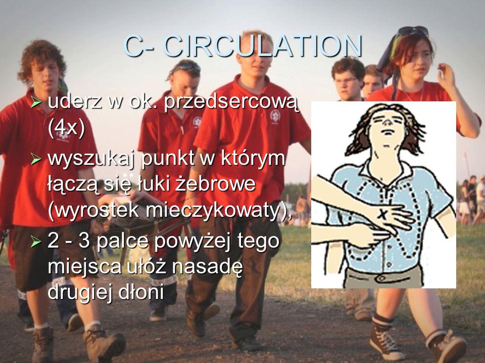 C- CIRCULATION uderz w ok. przedsercową (4x)