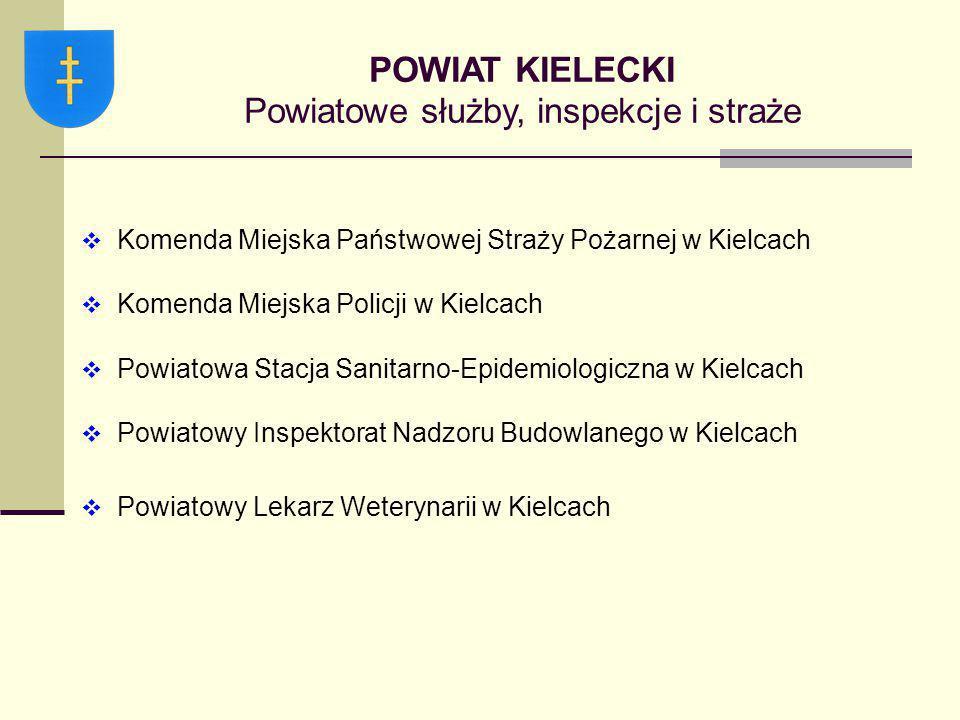 POWIAT KIELECKI Powiatowe służby, inspekcje i straże
