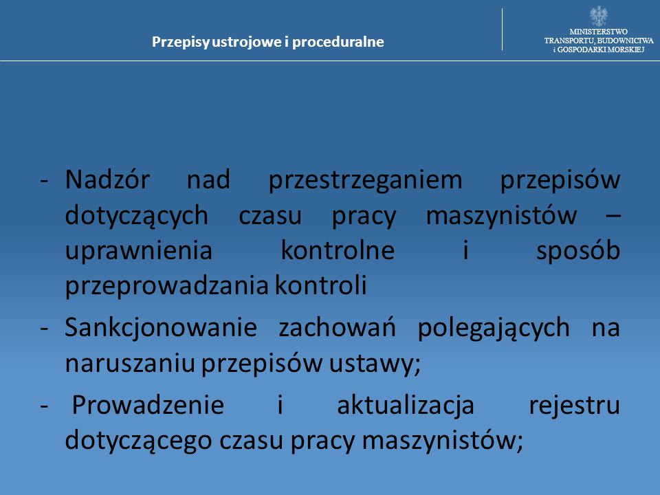 Przepisy ustrojowe i proceduralne