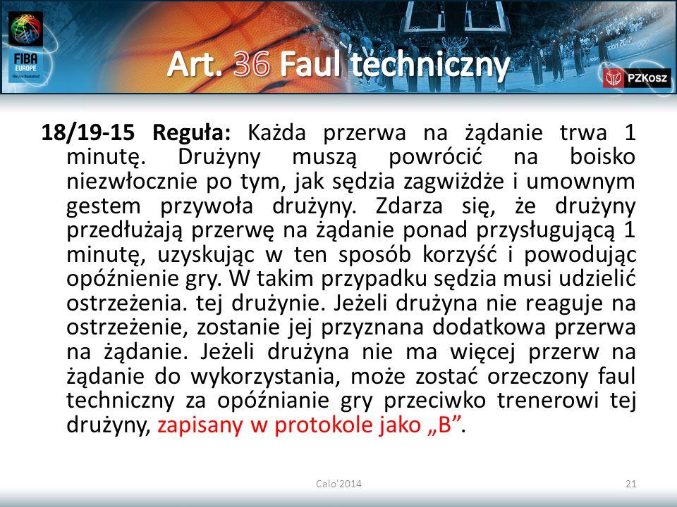 Art. 36 Faul techniczny