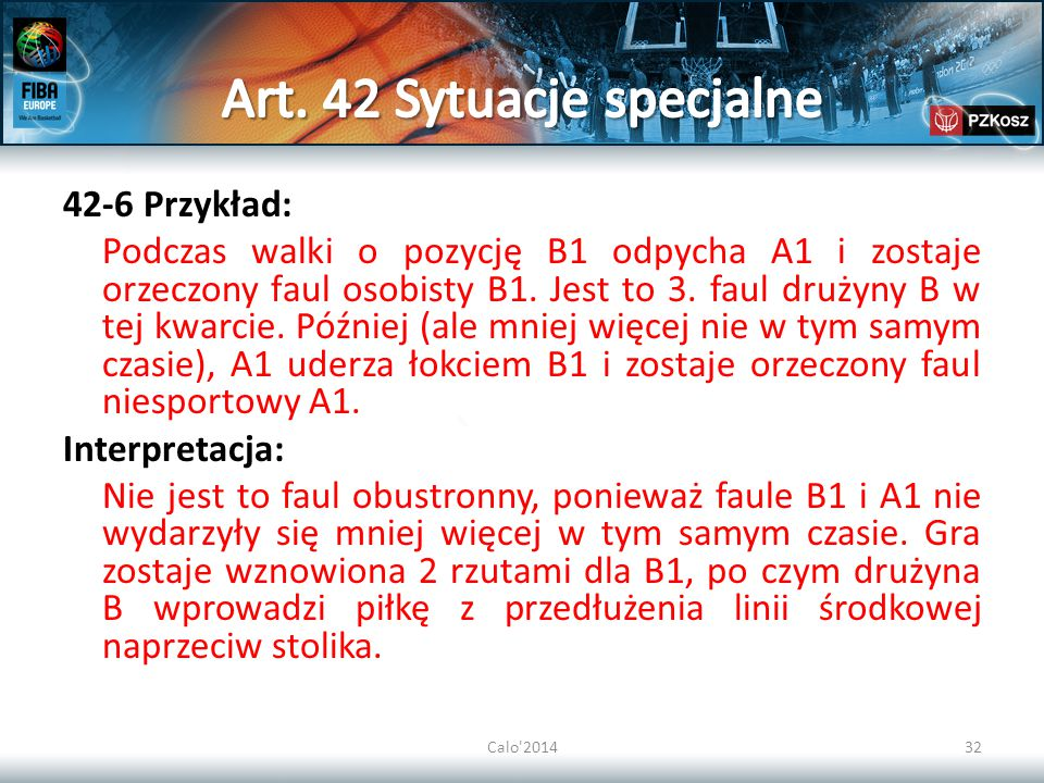 Art. 42 Sytuacje specjalne