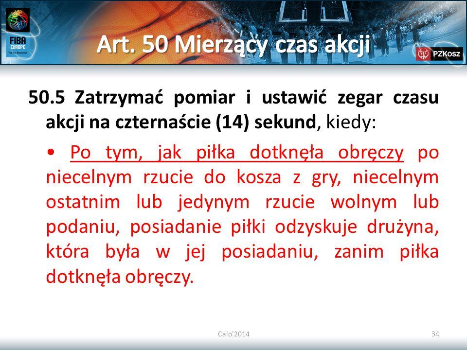 Art. 50 Mierzący czas akcji