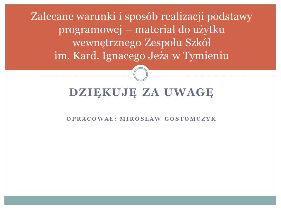 Opracował: Mirosław Gostomczyk