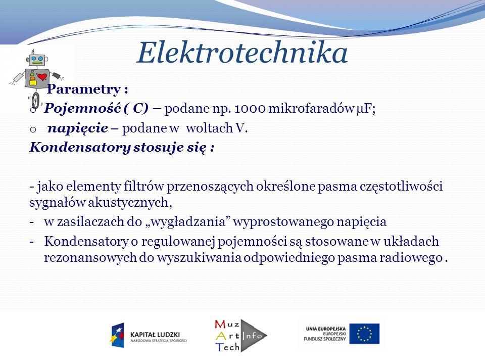 Elektrotechnika Parametry :