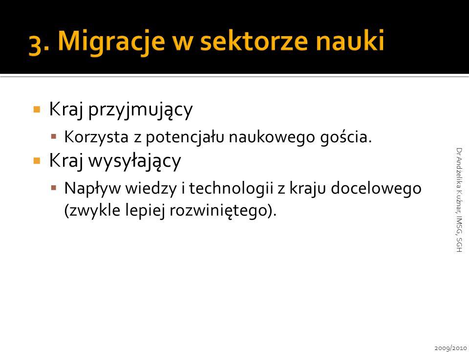 3. Migracje w sektorze nauki