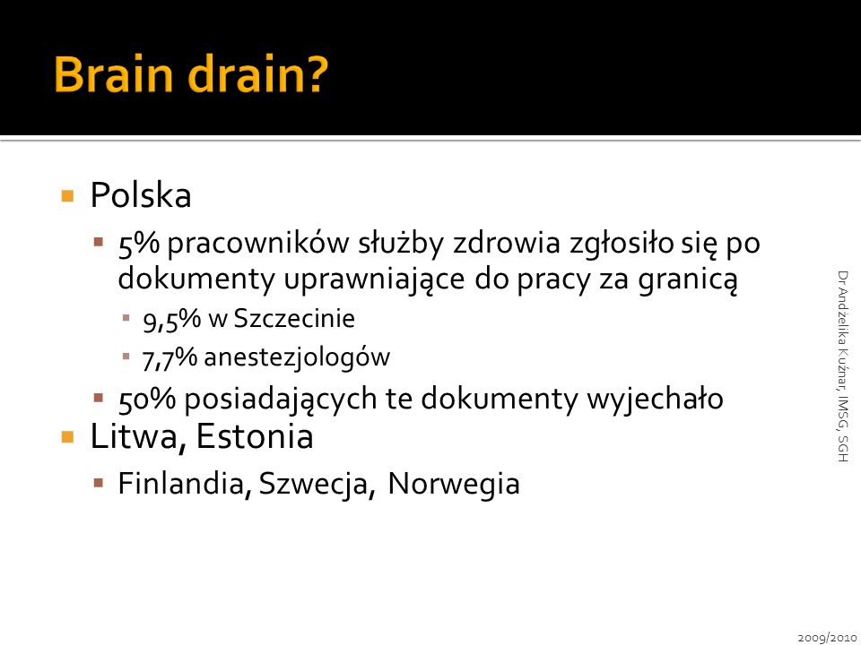 Dr Andżelika Kuźnar, IMSG, SGH