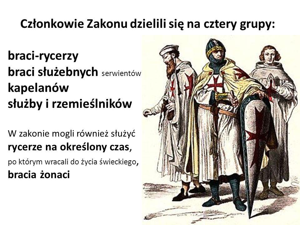 Członkowie Zakonu dzielili się na cztery grupy: