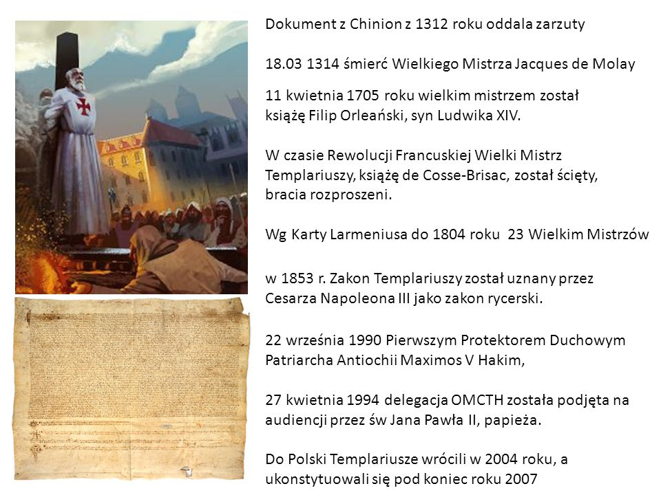 Dokument z Chinion z 1312 roku oddala zarzuty