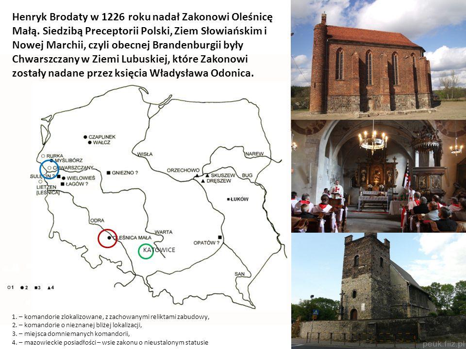 Henryk Brodaty w 1226 roku nadał Zakonowi Oleśnicę Małą