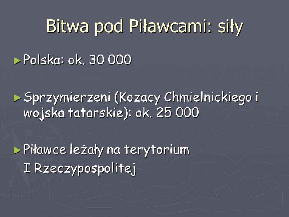 Bitwa pod Piławcami: siły