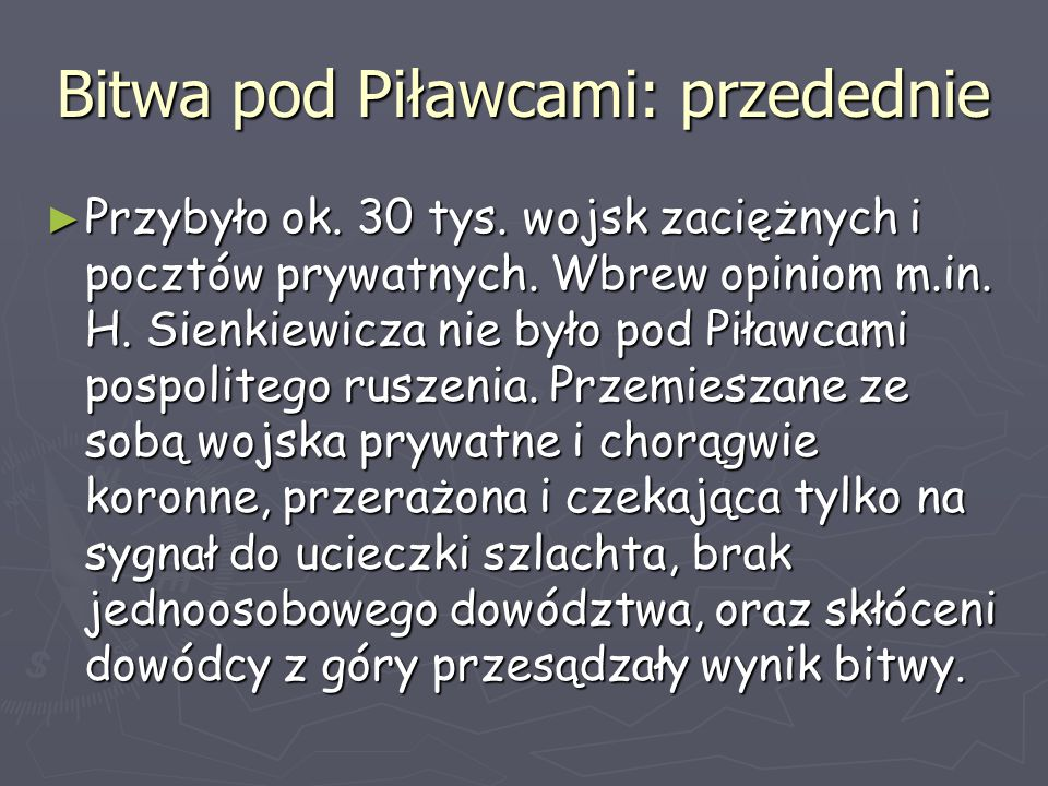 Bitwa pod Piławcami: przedednie