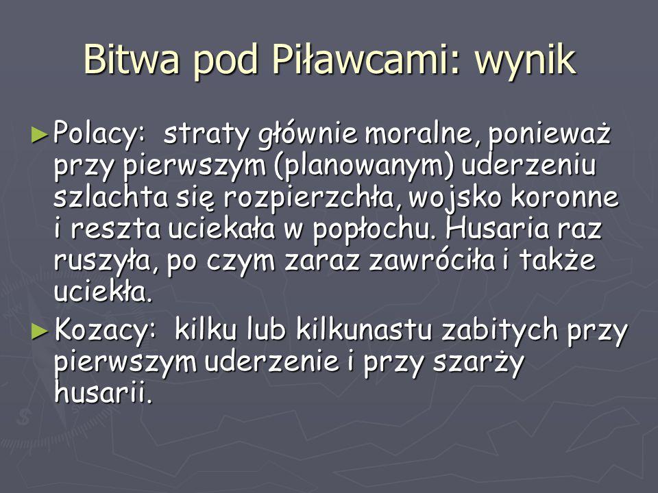 Bitwa pod Piławcami: wynik