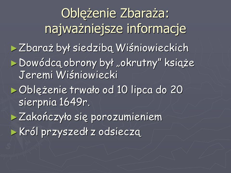 Oblężenie Zbaraża: najważniejsze informacje