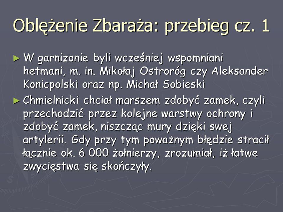 Oblężenie Zbaraża: przebieg cz. 1