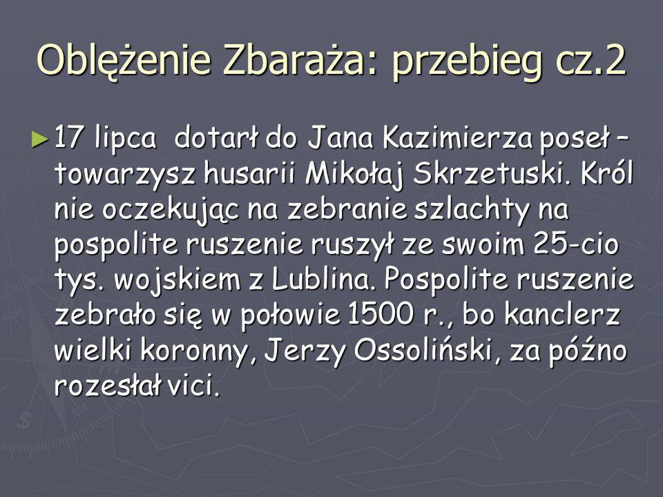 Oblężenie Zbaraża: przebieg cz.2