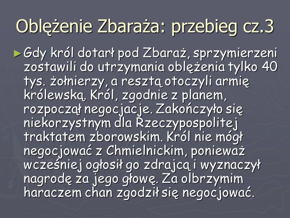 Oblężenie Zbaraża: przebieg cz.3