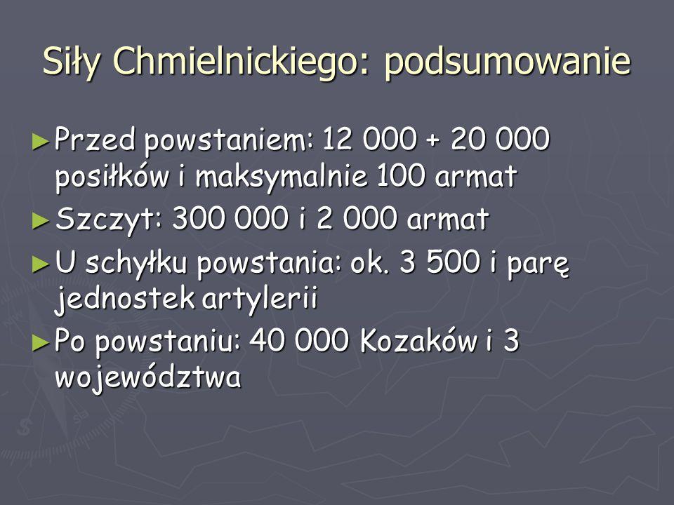 Siły Chmielnickiego: podsumowanie