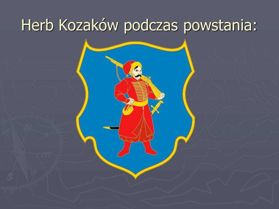 Herb Kozaków podczas powstania: