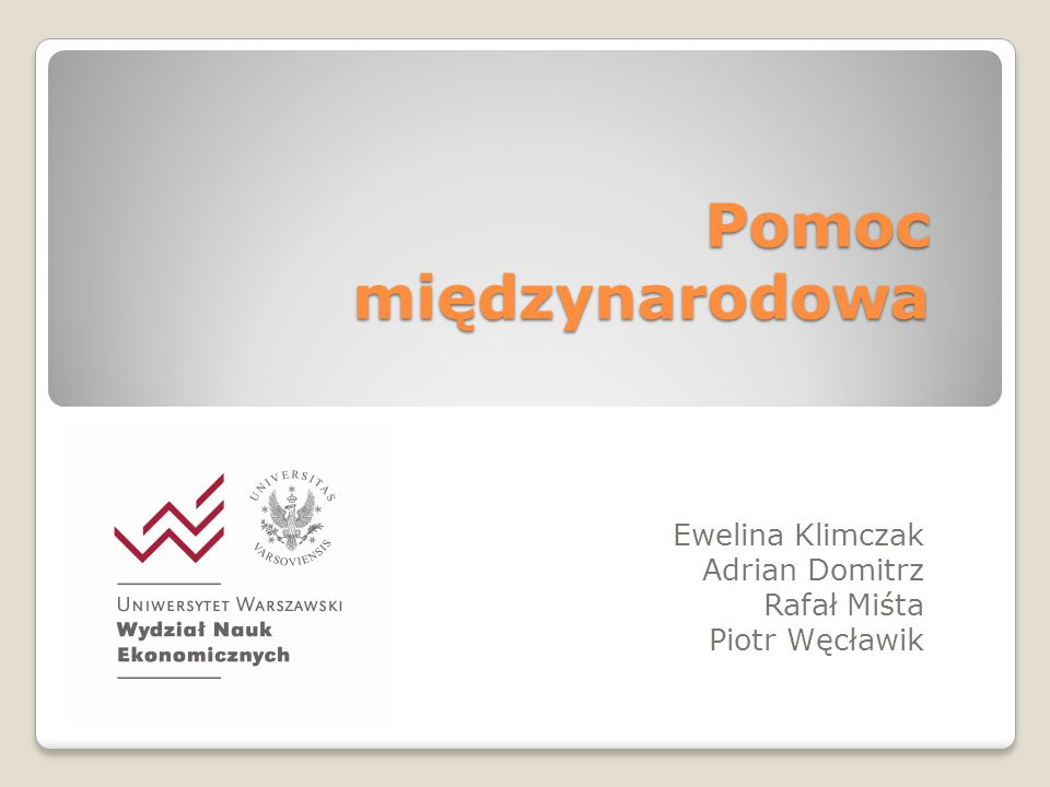 Ewelina Klimczak Adrian Domitrz Rafał Miśta Piotr Węcławik