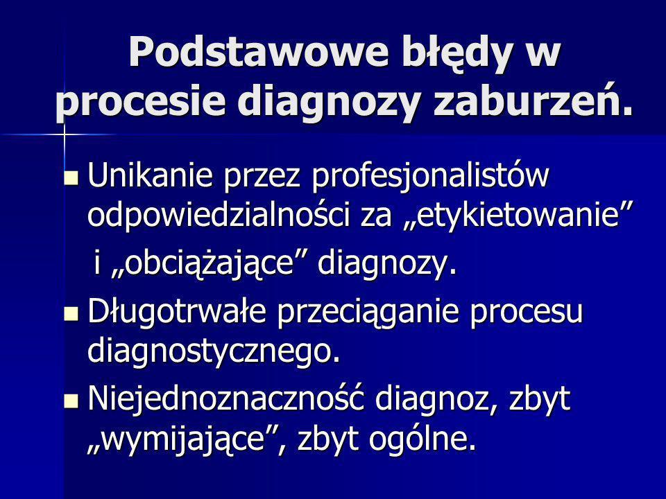Podstawowe błędy w procesie diagnozy zaburzeń.