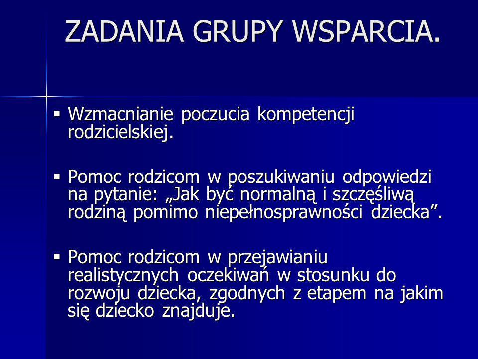 ZADANIA GRUPY WSPARCIA.