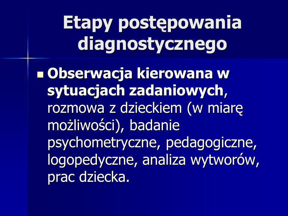 Etapy postępowania diagnostycznego
