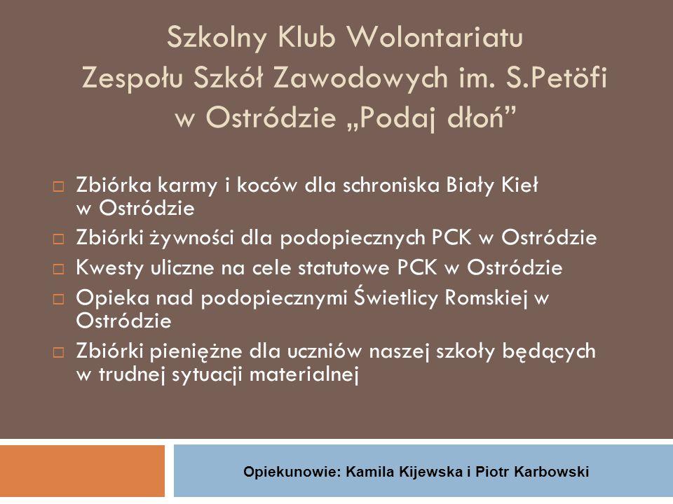Opiekunowie: Kamila Kijewska i Piotr Karbowski