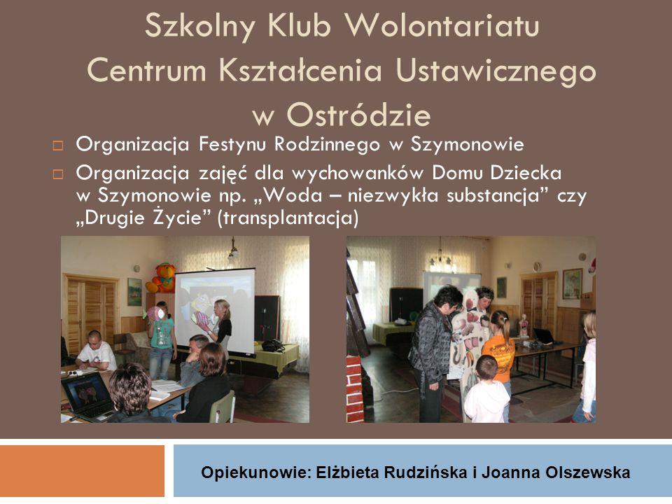 Szkolny Klub Wolontariatu Centrum Kształcenia Ustawicznego w Ostródzie