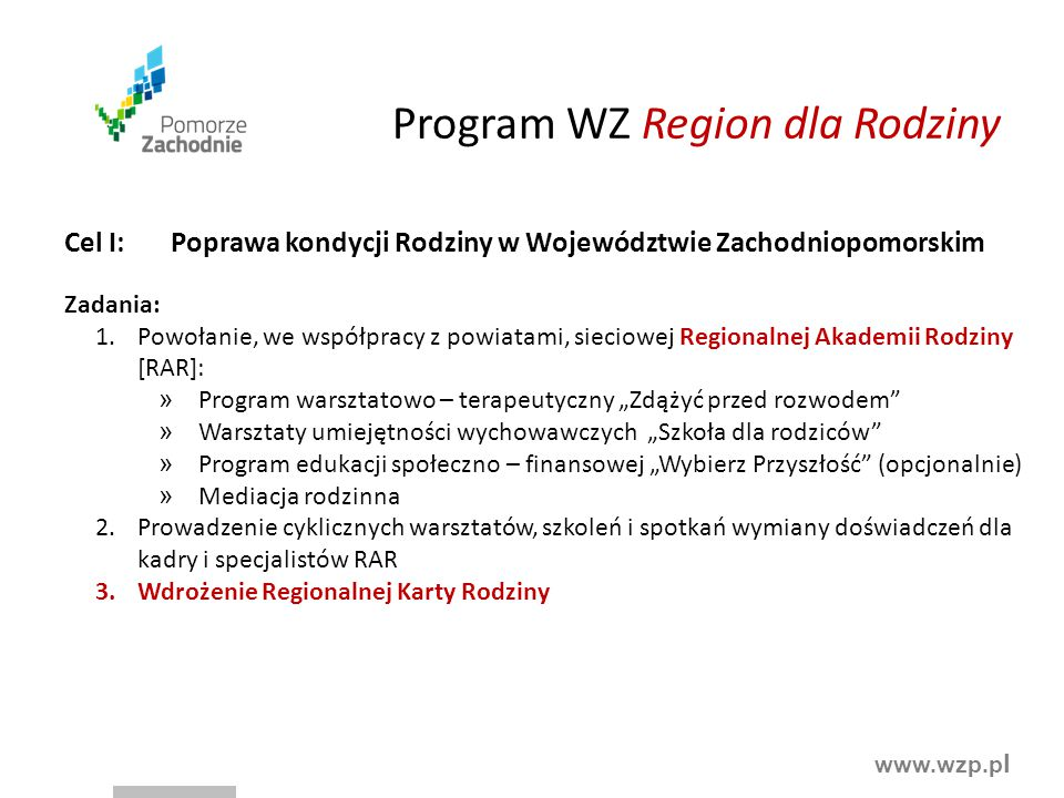 Program WZ Region dla Rodziny