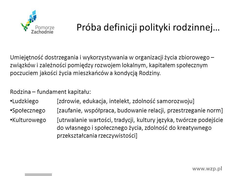 Próba definicji polityki rodzinnej…