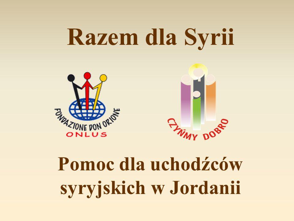 Pomoc dla uchodźców syryjskich w Jordanii