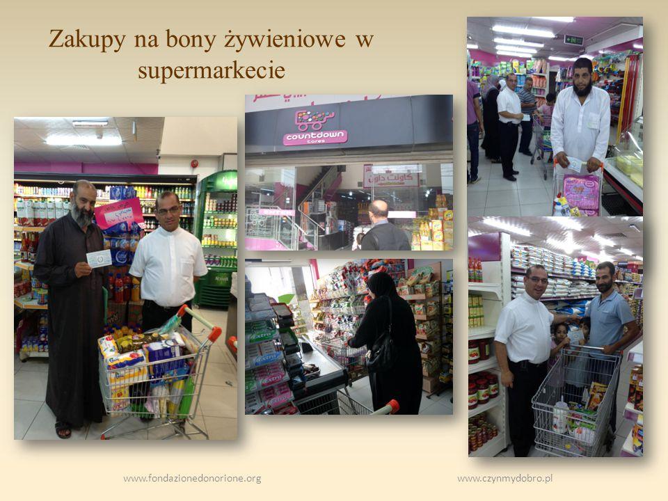 Zakupy na bony żywieniowe w supermarkecie