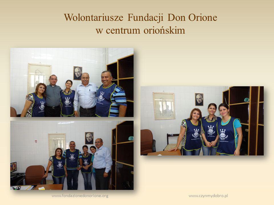 Wolontariusze Fundacji Don Orione w centrum oriońskim