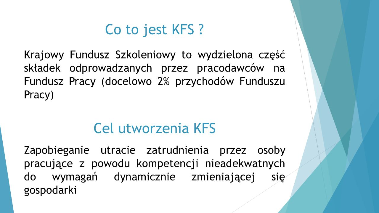 Co to jest KFS Cel utworzenia KFS