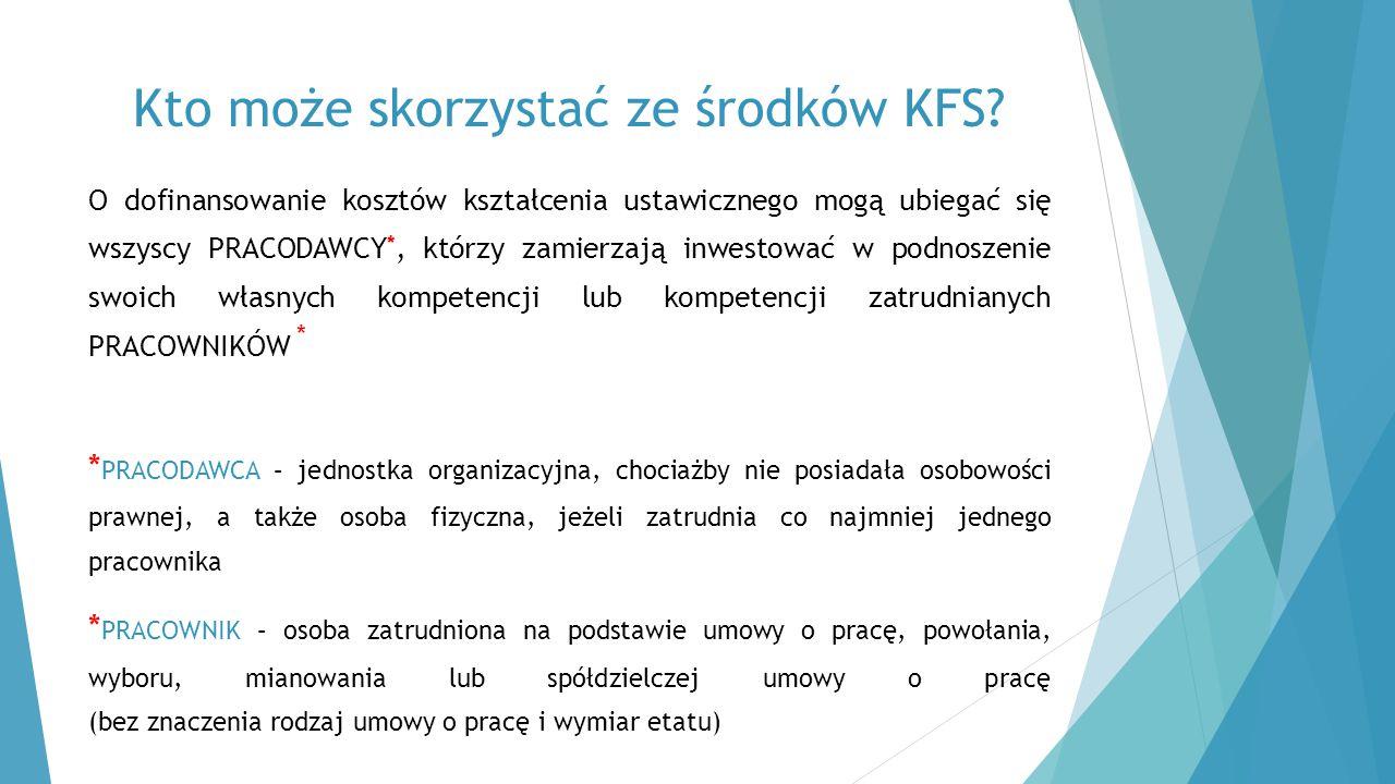 Kto może skorzystać ze środków KFS