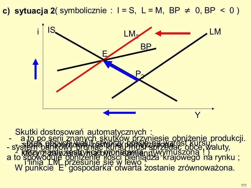 ( symbolicznie : I = S, L = M, BP  0, BP < 0 )