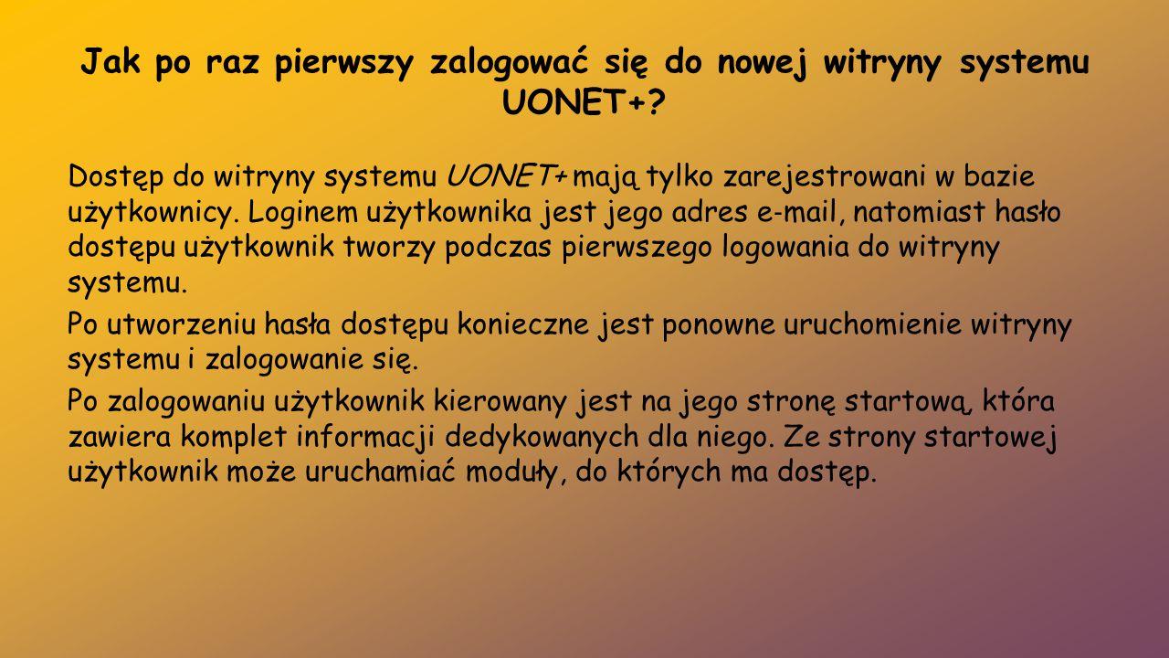 Jak po raz pierwszy zalogować się do nowej witryny systemu UONET+