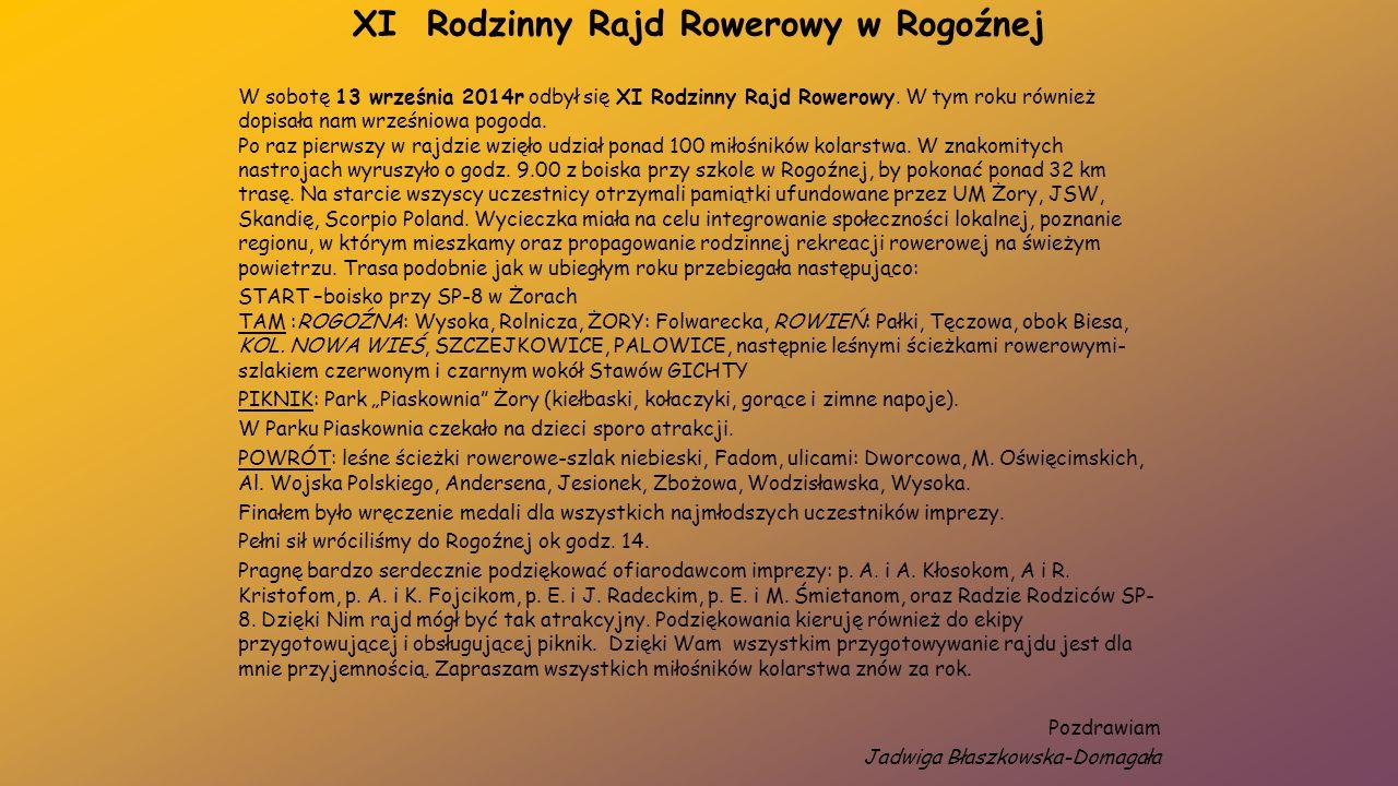 XI Rodzinny Rajd Rowerowy w Rogoźnej