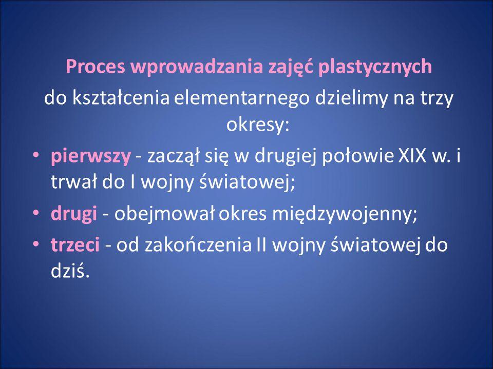 Proces wprowadzania zajęć plastycznych