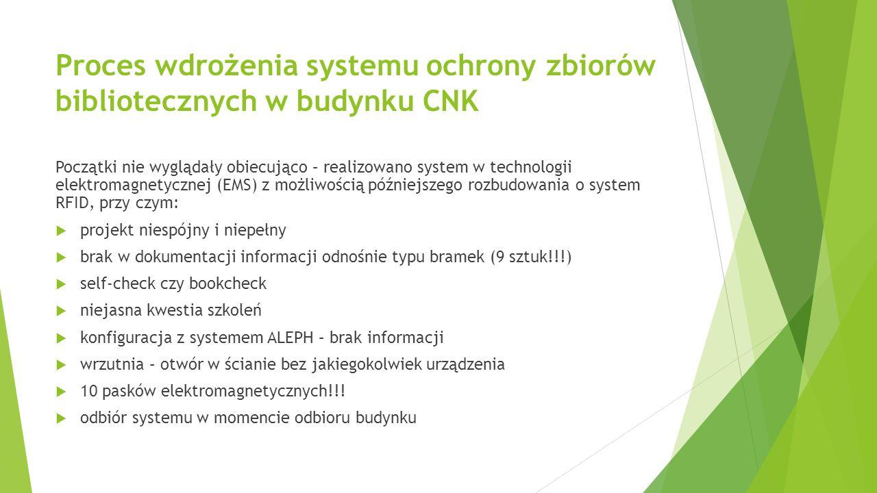 Proces wdrożenia systemu ochrony zbiorów bibliotecznych w budynku CNK