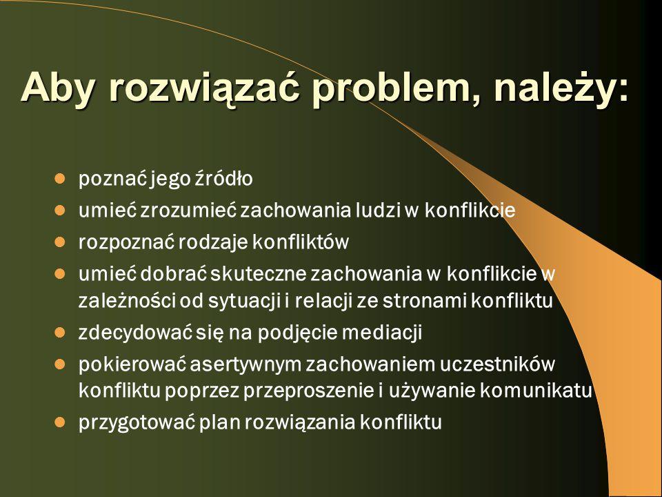 Aby rozwiązać problem, należy: